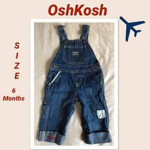 OshKosh Boys Size 6 months Denim Overalls